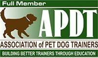 Full Member: Association of Pet Dog Trainers Logo - Building Better Trainers Through Education